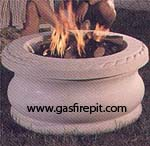 Outdoor natural gas firepits and propane firepits give the warmth of a wood campfire without the mess.