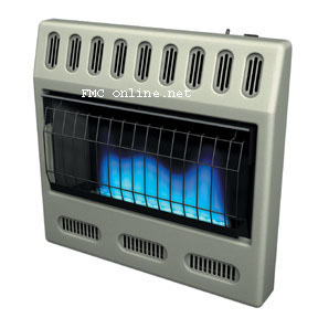 Glo-warm blue flame heater and blue flame heater accessories for Glo-warm, Comfort Glow, Reddy and Vanguard by Desa